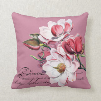 Magnolia Cambellii Redouté Illustration Throw Pillow