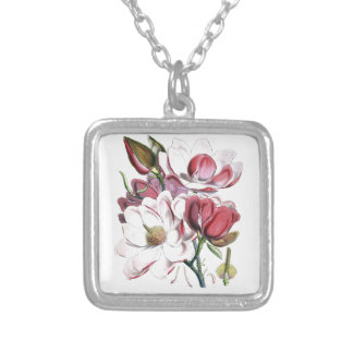 Magnolia Campbellii Silver Plated Necklace