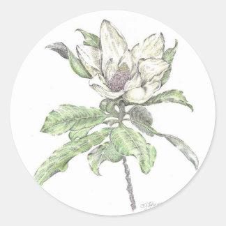 magnolia classic round sticker