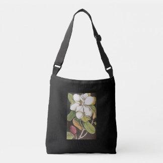 Magnolia cross body bag, black crossbody bag