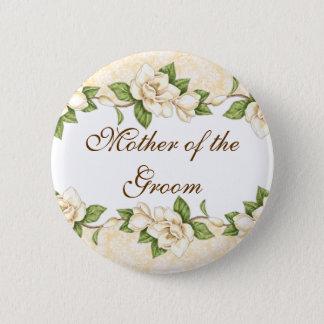 Magnolia- Damask Bridal Party Button