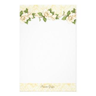 Magnolia- Damask Personalized Writing Paper