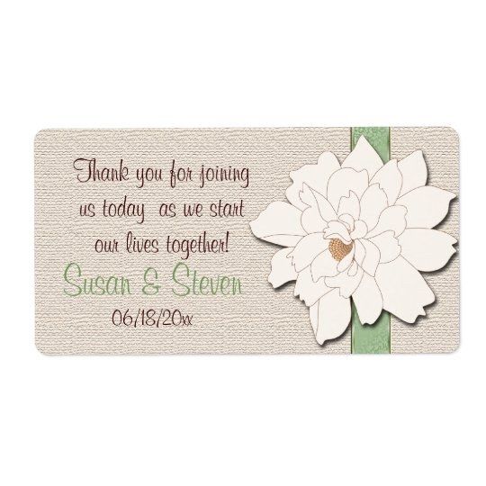 Magnolia Dreams Favour Sticker