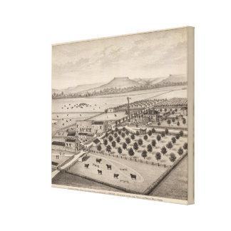 Magnolia Farm, Kansas Stretched Canvas Print