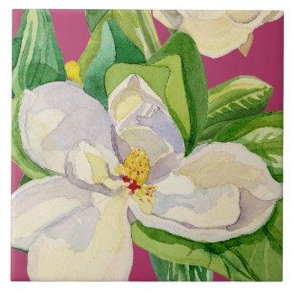 Magnolia Floral Decorative Kitchen Art Tile Design