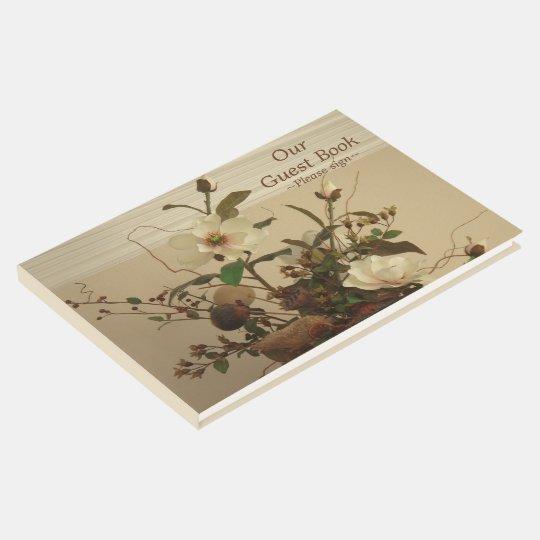 """Magnolia Floral Design"" Wedding Guest Book"