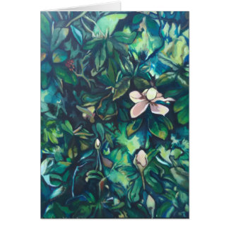 Magnolia floral note card