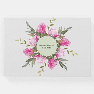 Magnolia Floral Watercolor Guest Book