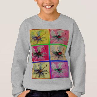Magnolia Flower 6 Part Collage Design Sweatshirt