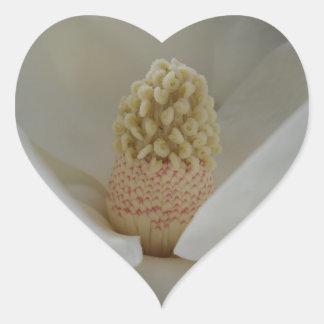 Magnolia Flower Heart Sticker