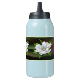 Magnolia Flower Insulated Water Bottle