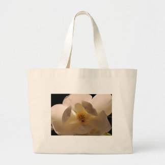 Magnolia flower large tote bag