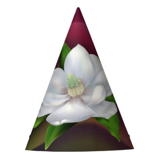 Magnolia Flower Party Hat