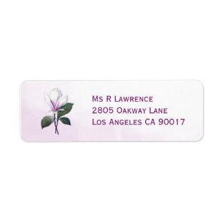 Magnolia Flower Return Address Label