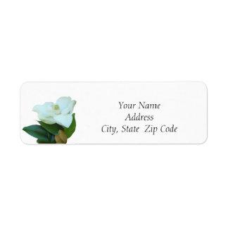 Magnolia Flower Return Address Labels