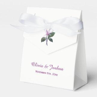 Magnolia Flower Wedding Favor Boxes