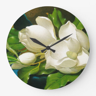 Magnolia Flowers Wall Clock