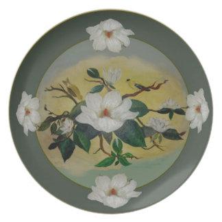 Magnolia & Goldfinch Plate