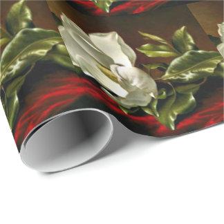 Magnolia Grandiflora-1895-Martin Johnson Heade Wrapping Paper