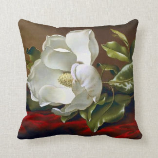 Magnolia Grandiflora Blossom Fine Art Throw Pillow