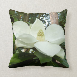 Magnolia Grandiflora Throw Cushion