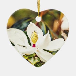 Magnolia in Bloom Ceramic Ornament