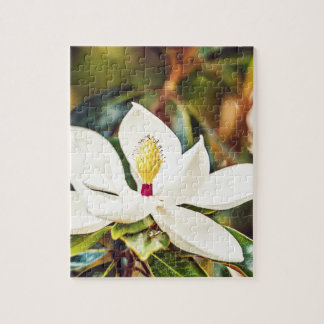 Magnolia in Bloom Jigsaw Puzzle