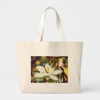Magnolia in Bloom Large Tote Bag