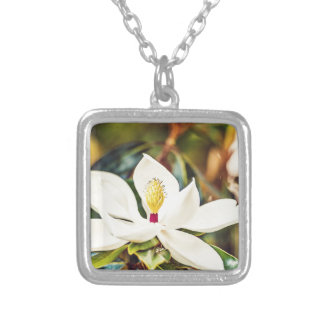 Magnolia in Bloom Silver Plated Necklace