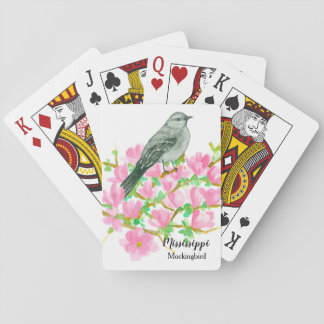 Magnolia Mockingbird State Bird of Mississippi Playing Cards