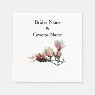 Magnolia Modern Simple Elegant WeddingIdeas Napkin