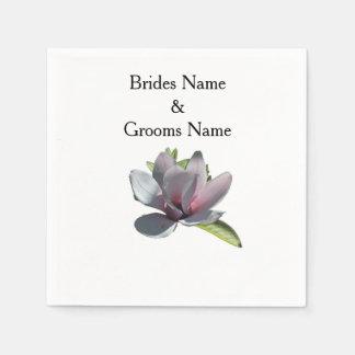 Magnolia Modern Simple Elegant WeddingIdeas Paper Napkin