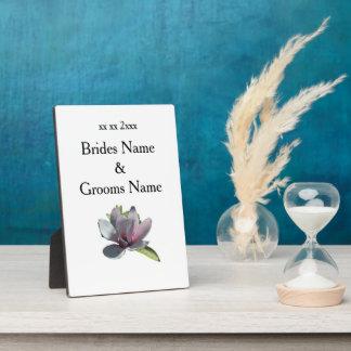 Magnolia Modern Simple Elegant WeddingIdeas Plaque