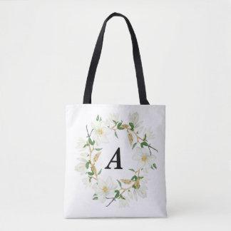 Magnolia Monogram Tote Bag