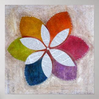 Magnolia Multi-coloured Poster Print