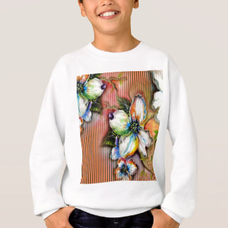 Magnolia Orange Stripe Design Sweatshirt