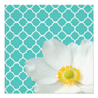 Magnolia & Quatrefoil Pattern Photo Print