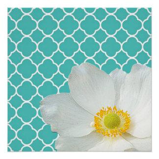 Magnolia & Quatrefoil Pattern Poster