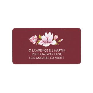 Magnolia Romance Floral Watercolor Label