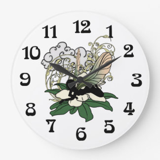 Magnolia Shadow Fairy Large Clock