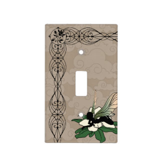 Magnolia Shadow Fairy Light Switch Cover