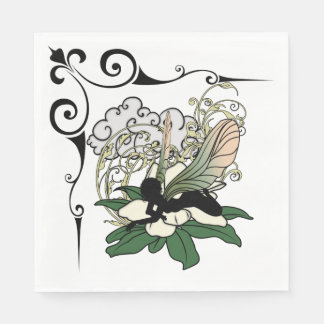 Magnolia Shadow Fairy Paper Napkin