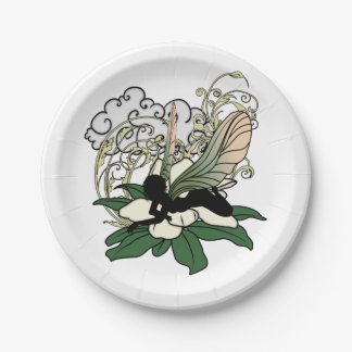 Magnolia Shadow Fairy Paper Plate