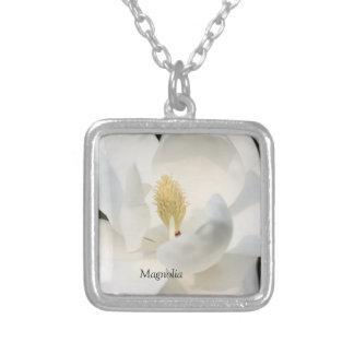 Magnolia Silver Square Necklace