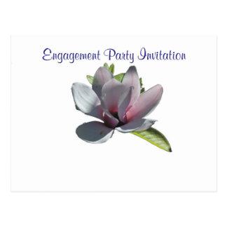 Magnolia Simple Elegant Engagement Party Postcard