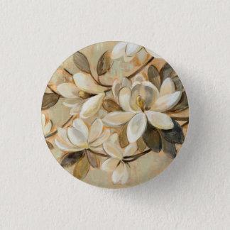 Magnolia Simplicity Cream 1 Inch Round Button