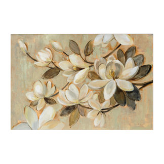 Magnolia Simplicity Cream Acrylic Wall Art