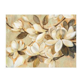 Magnolia Simplicity Cream Canvas Print