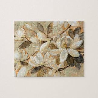 Magnolia Simplicity Cream Jigsaw Puzzle