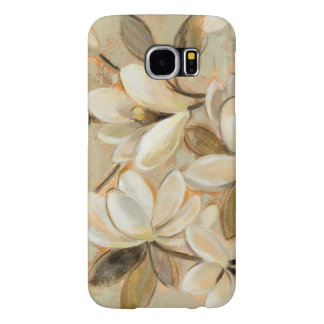 Magnolia Simplicity Cream Samsung Galaxy S6 Cases